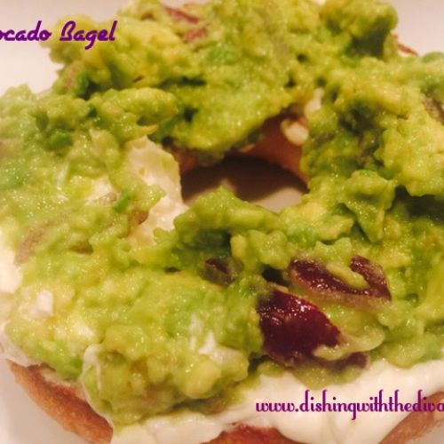 Avocado Snack Bagel